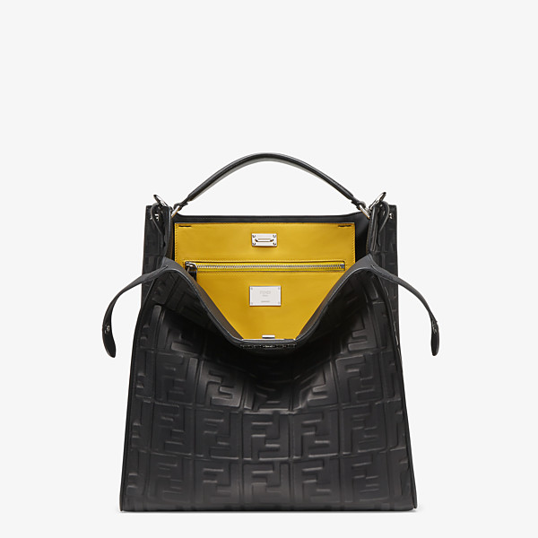 Black nappa leather bag