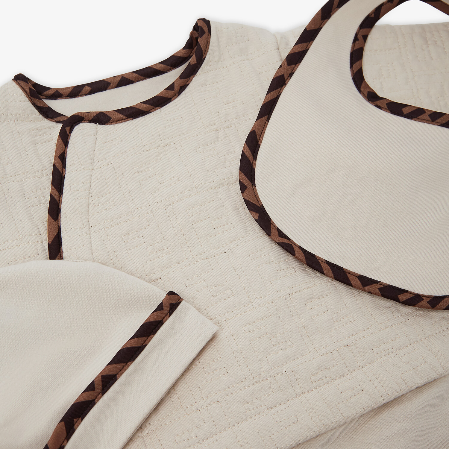 FENDI BABY KIT - Quilted cotton baby set - view 3 detail