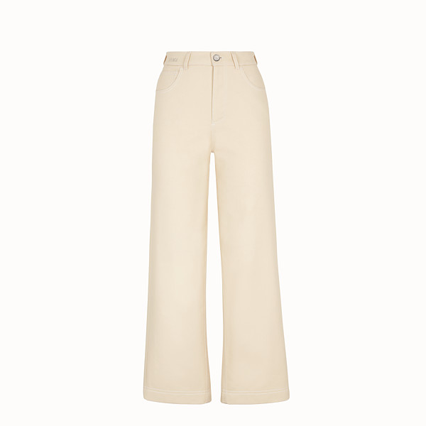 FENDI HOSE - Hose aus Baumwolle in Beige - view 1 small thumbnail