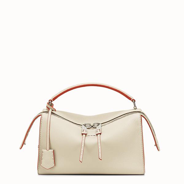 FENDI LEI SELLERIA BAG - white Roman leather Boston bag - view 1 small thumbnail