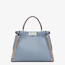 FENDI PEEKABOO ICONIC MEDIUM - Pale blue leather bag - view 4 thumbnail