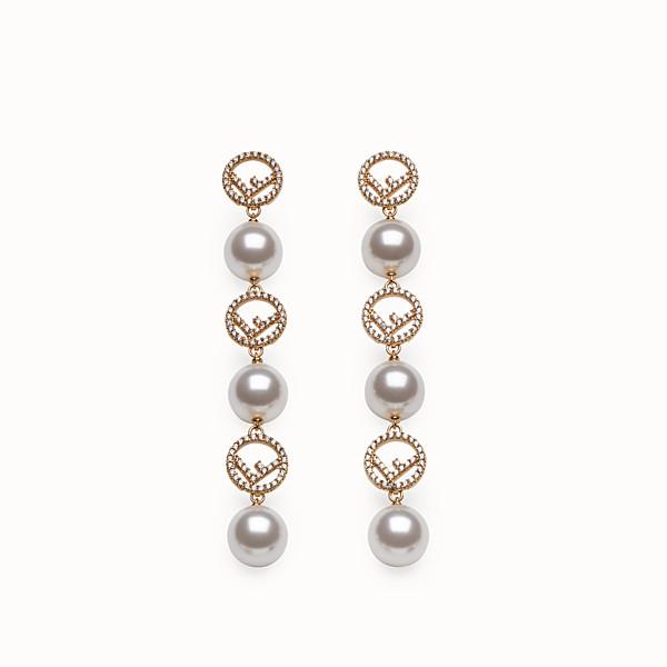 FENDI F IS FENDI EARRINGS - Gold-colour earrings - view 1 small thumbnail