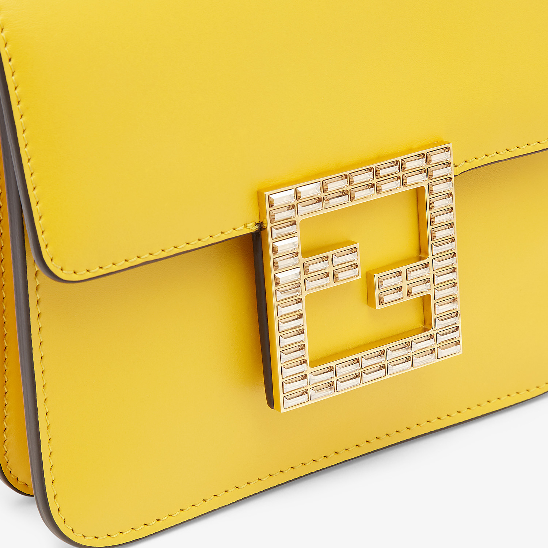 FENDI FENDI FAB - Small yellow leather bag - view 6 detail