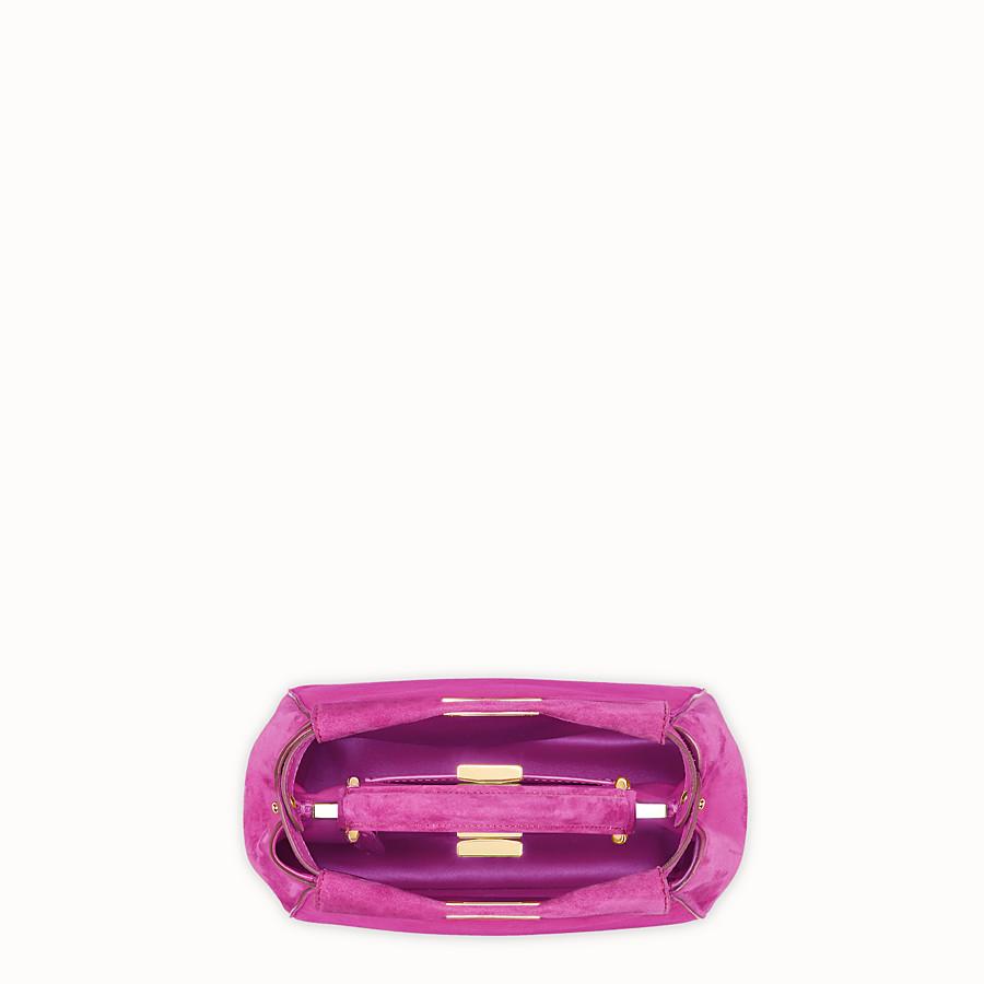 FENDI PEEKABOO ICONIC XS - Pink suede minibag - view 4 detail