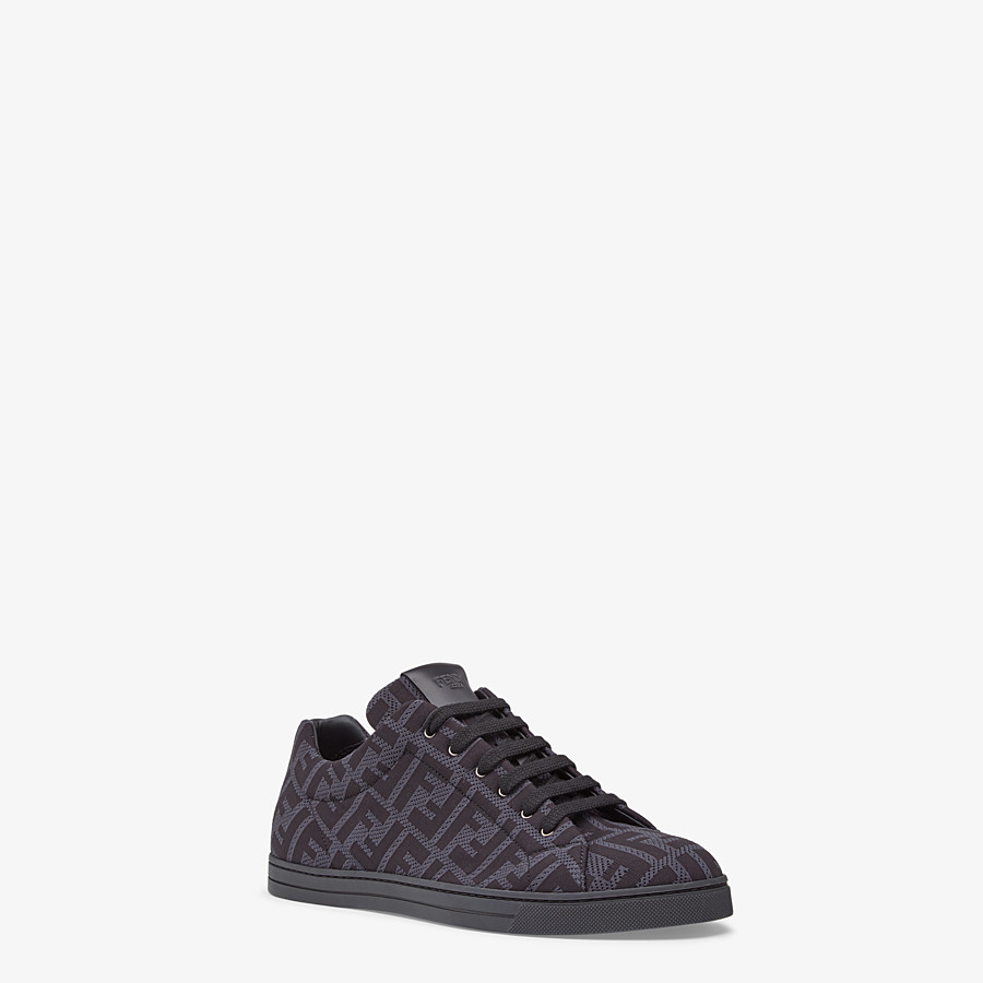 FENDI SNEAKERS - Gray, tech fabric low-top - view 2 detail
