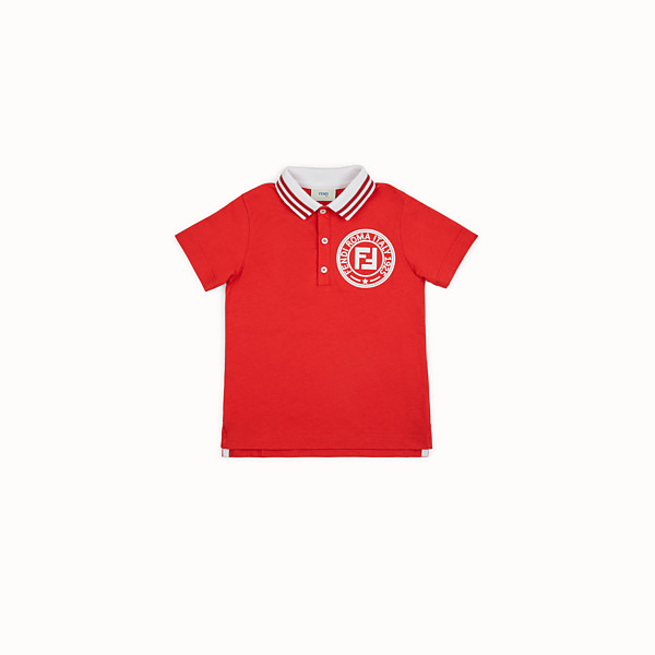 FENDI POLO SHIRT - Red piqué polo shirt - view 1 small thumbnail