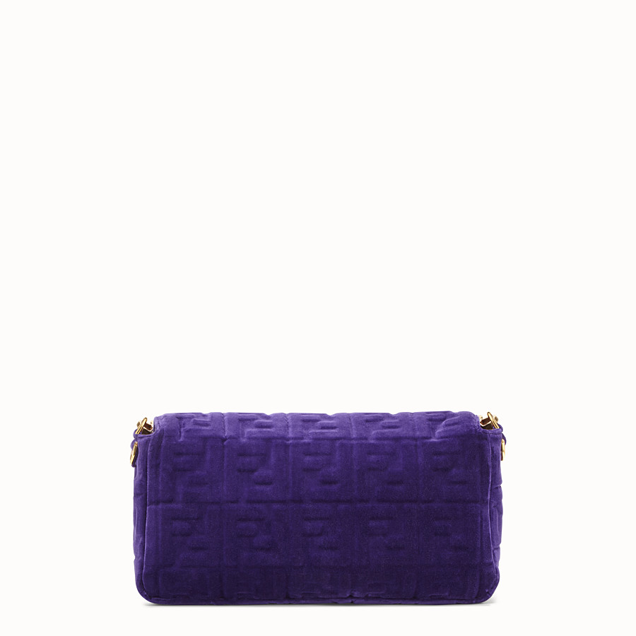 FENDI BAGUETTE LARGE - Purple velvet bag - view 3 detail