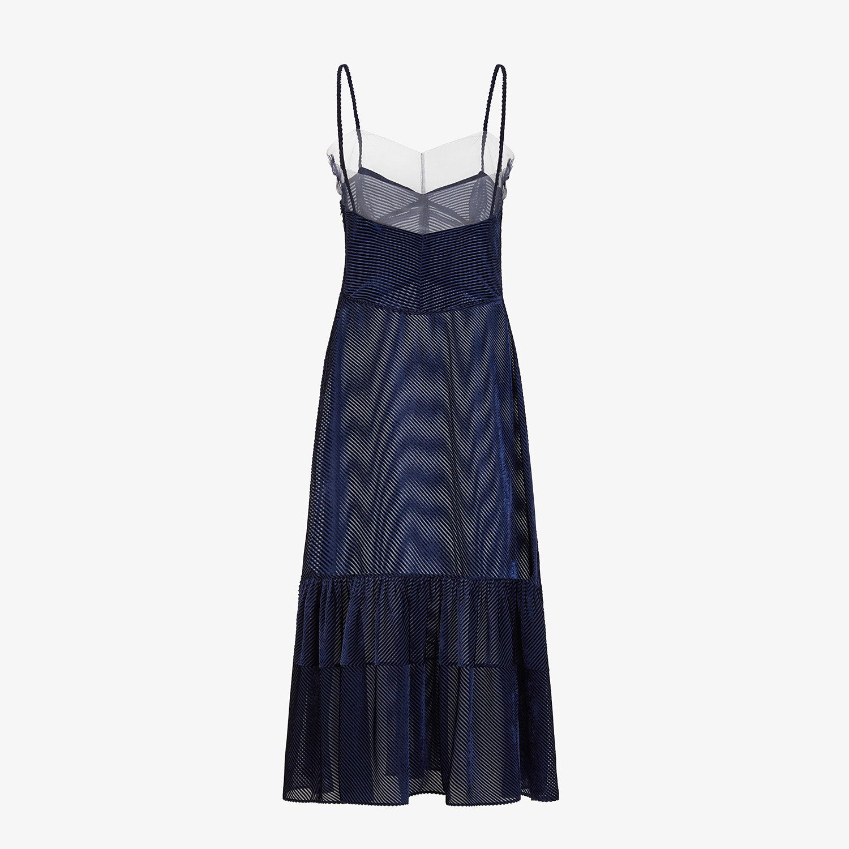 FENDI DRESS - Blue silk jacquard dress - view 2 detail