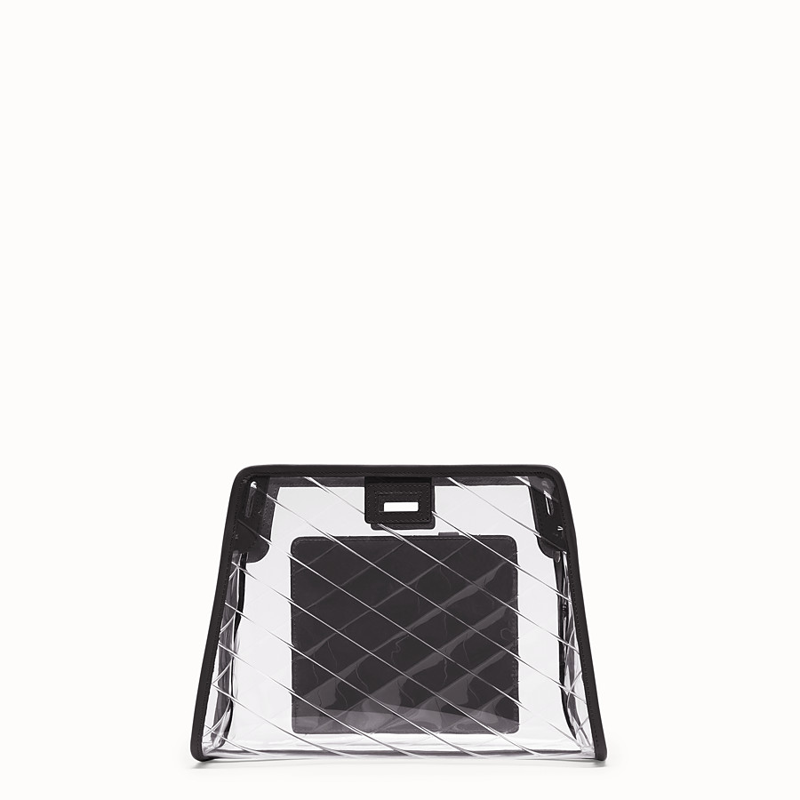 FENDI SMALL PEEKABOO DEFENDER - Black leather Peekaboo cover - view 3 detail