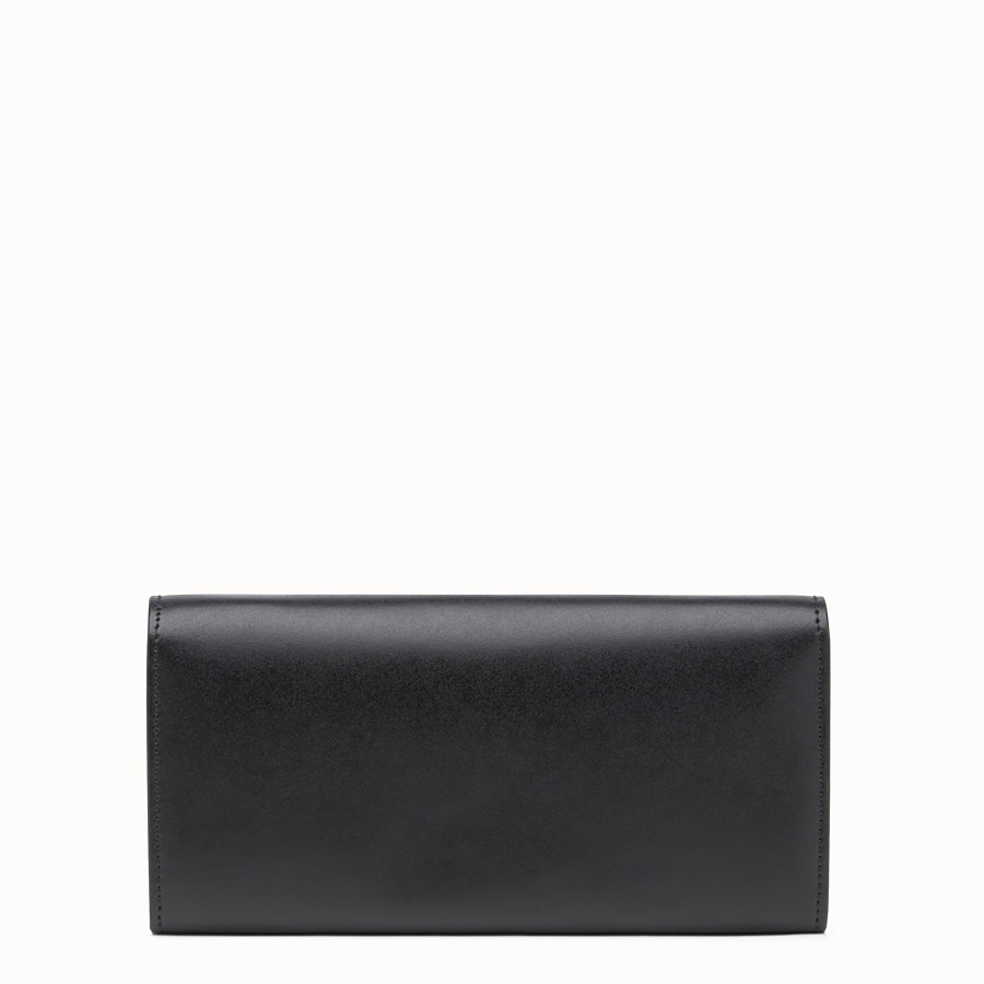 FENDI CONTINENTAL WITH CHAIN - Wallet in black leather - view 3 detail