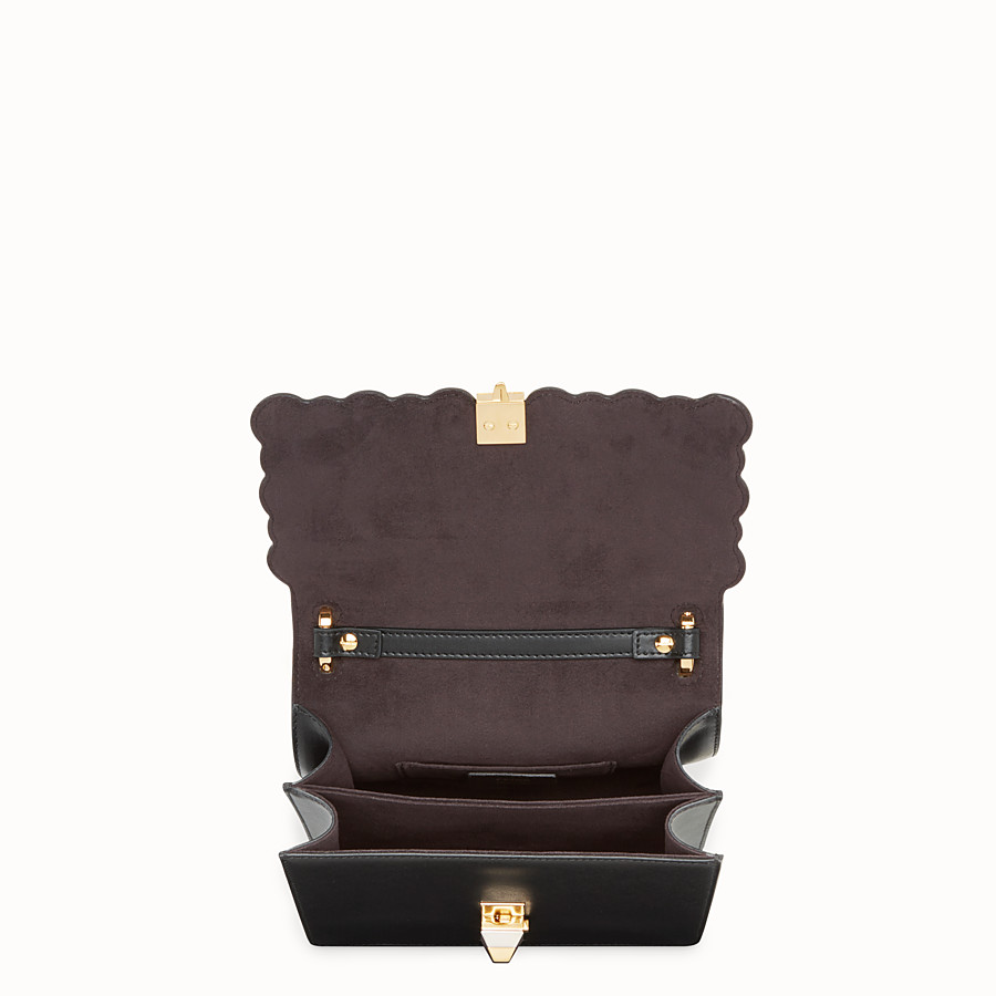 FENDI KAN I SMALL - Black leather mini-bag - view 4 detail