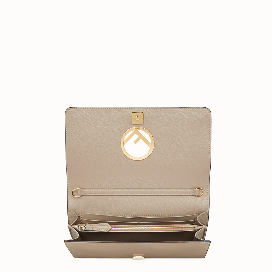 FENDI WALLET ON CHAIN - Beige leather mini-bag - view 4 detail