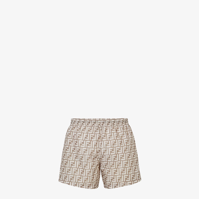 FENDI SWIM SHORTS - Beige Lycra® shorts - view 2 detail