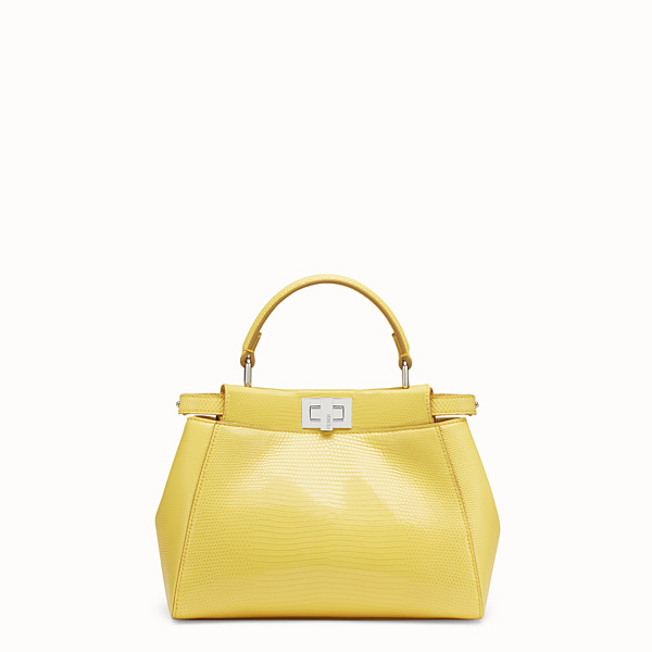 FENDI PEEKABOO ICONIC MINI - Yellow lizard bag - view 1 small thumbnail