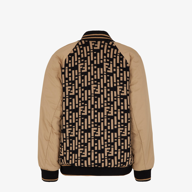 FENDI JACKET - Multicolor nylon and knit bomber jacket - view 2 detail