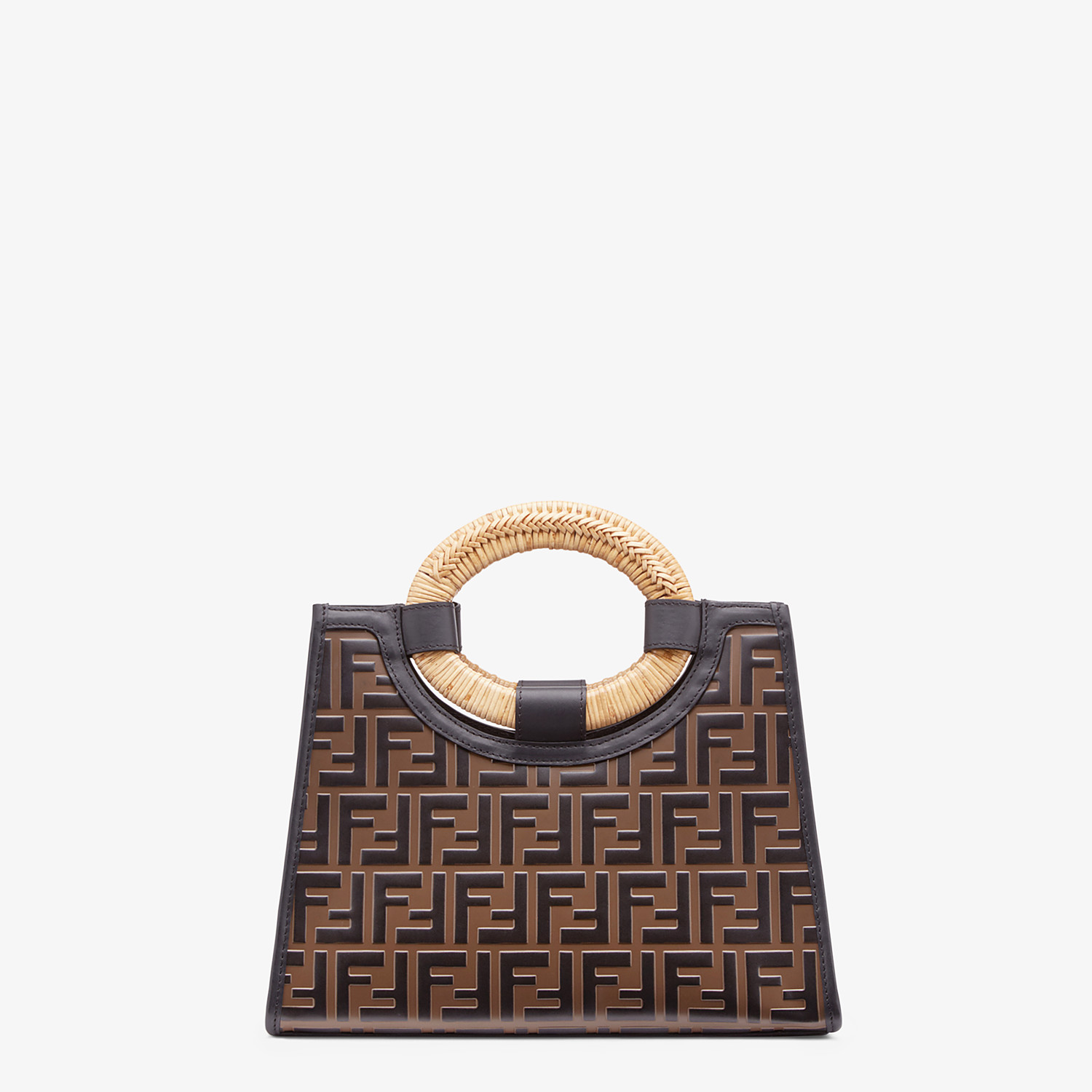FENDI RUNAWAY SHOPPER - Multicolour leather shopper - view 4 detail