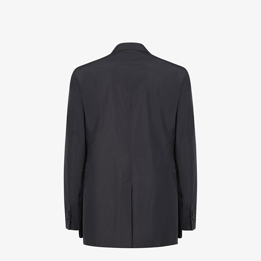 FENDI JACKET - Blazer in black nylon and cotton - view 2 detail