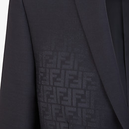 FENDI JACKET - Black wool blazer - view 3 thumbnail