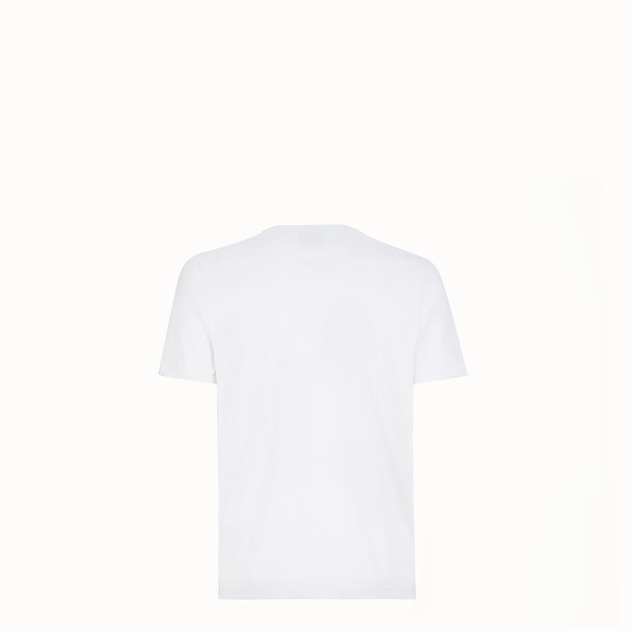 FENDI T-SHIRT - White cotton jersey T-shirt - view 2 detail
