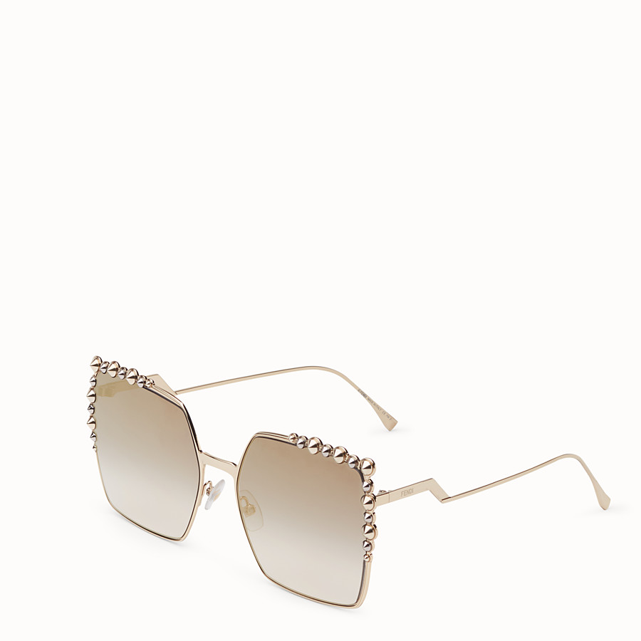 FENDI CAN EYE - Gold-colour sunglasses - view 2 detail