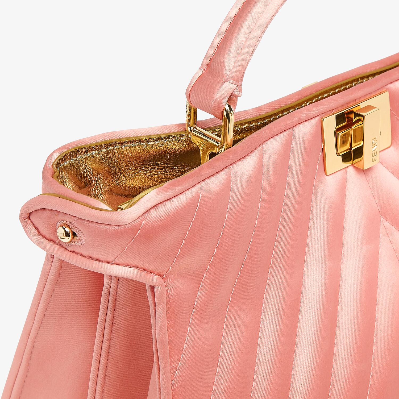 FENDI PEEKABOO I SEE U EAST-WEST - Pink satin bag - view 6 detail