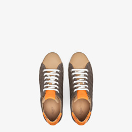 FENDI SNEAKERS - Multicolour canvas and leather low-tops - view 4 thumbnail