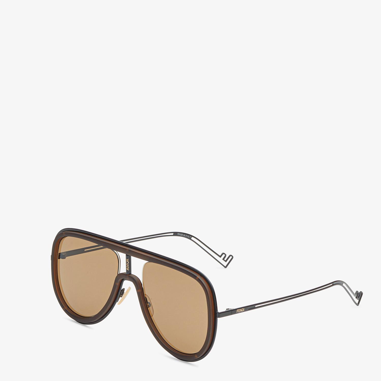 FENDI FUTURISTIC FENDI - Black sunglasses - view 2 detail