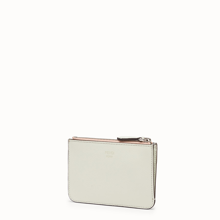 FENDI KEY RING POUCH - Multicolour leather pouch - view 2 detail