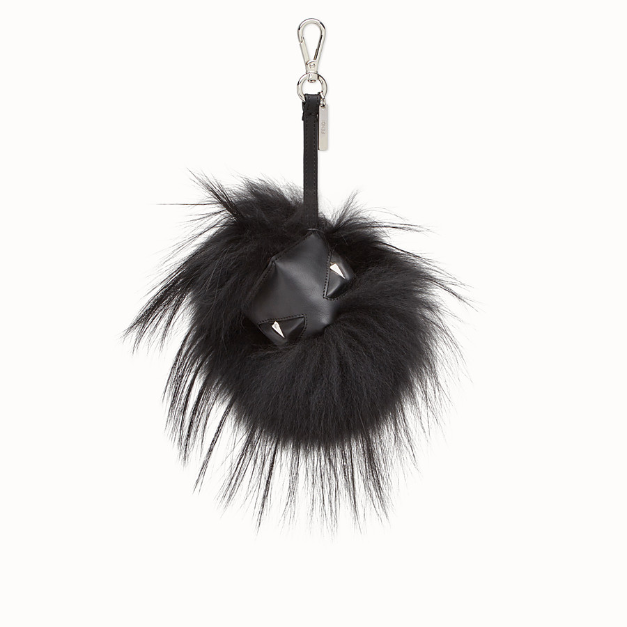 FENDI MONSTER CUBE CHARM - Leather and black fur Monster cube - view 1 detail