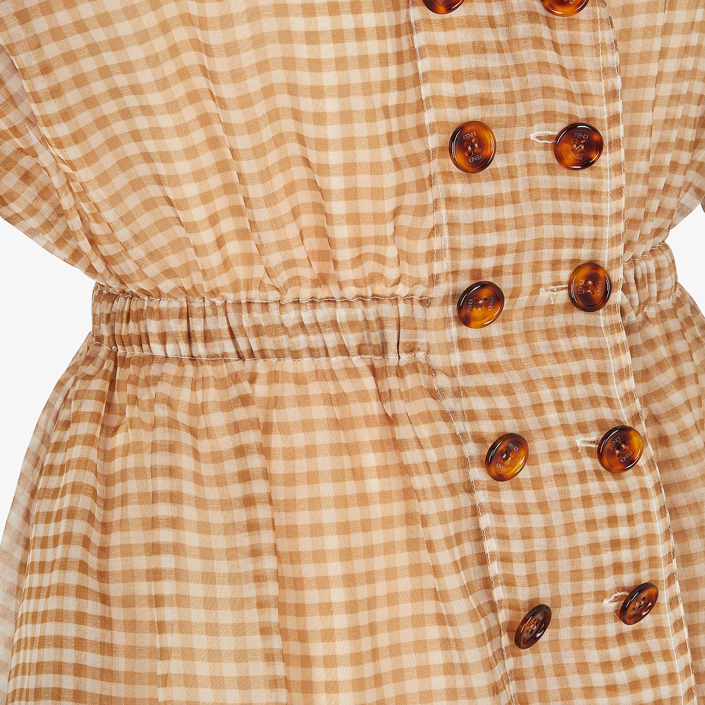 FENDI KLEID - Kleid aus Organza mit Vichykaros - view 3 detail