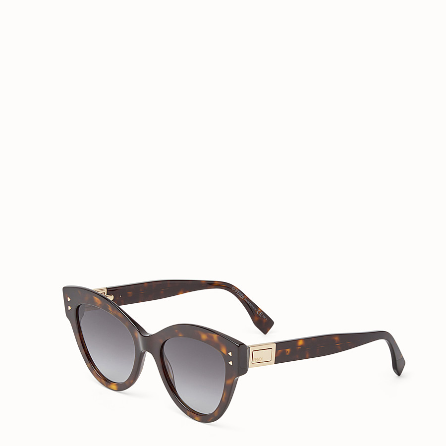 FENDI PEEKABOO - Havana brown sunglasses - view 2 detail