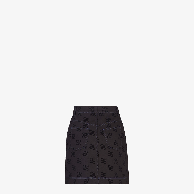 FENDI SKIRT - Black denim skirt - view 2 detail