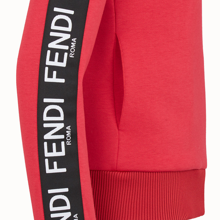 FENDI SWEATSHIRT - Red fabric sweatshirt - view 3 detail