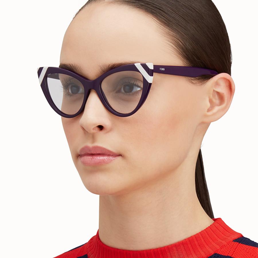 FENDI WAVES - Sunglasses with transparent lenses - view 4 detail