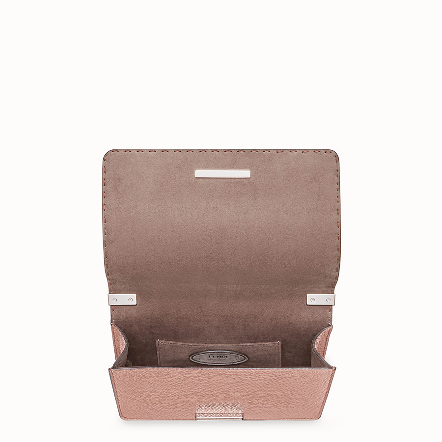 FENDI MESSENGER - Pink leather messenger - view 4 detail