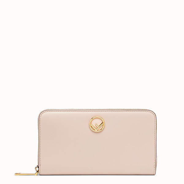 FENDI ZIP-AROUND - Pink leather wallet - view 1 small thumbnail