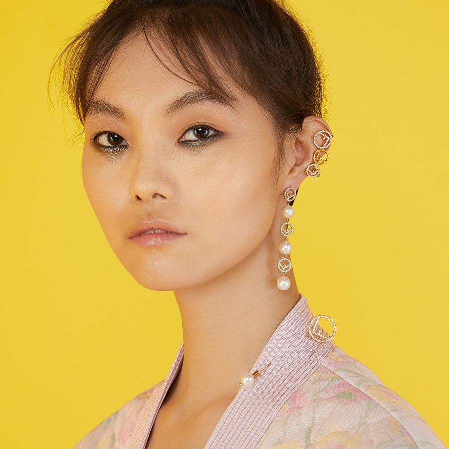 FENDI F IS FENDI EARRINGS - Gold-colour earrings - view 2 detail