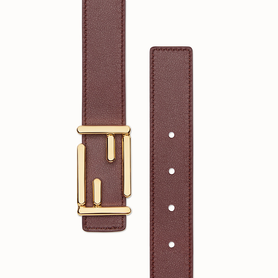 FENDI BAGUETTE BELT - Leather belt with Baguette buckle - view 2 detail
