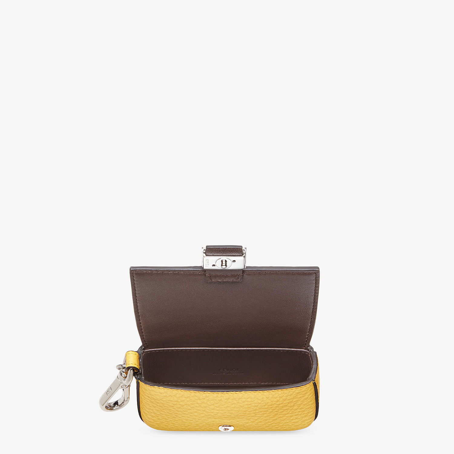 FENDI NANO BAGUETTE CHARM - Yellow leather charm - view 3 detail