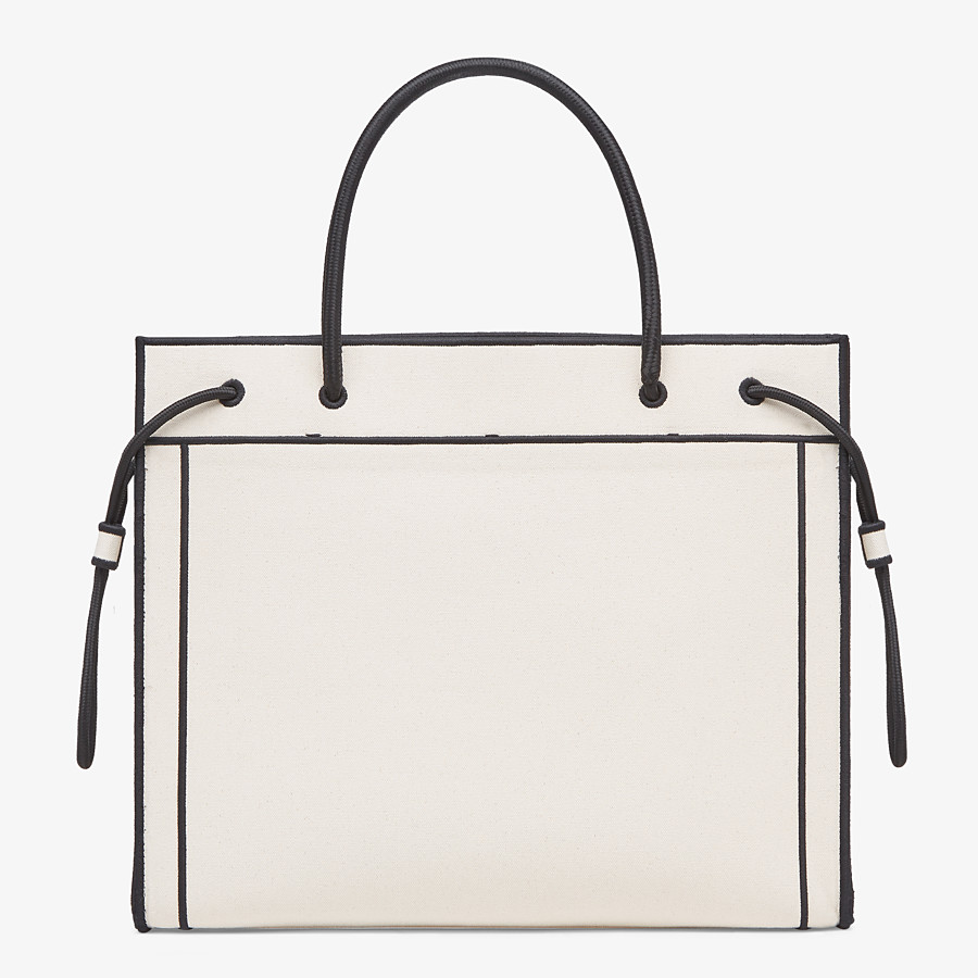 FENDI LARGE FENDI ROMA SHOPPER - Undyed canvas shopper bag - view 4 detail