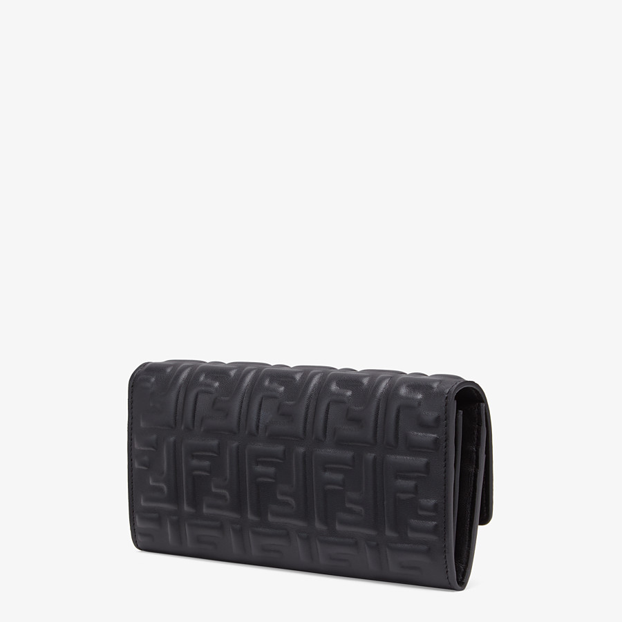 FENDI CONTINENTAL - Black nappa leather wallet - view 2 detail