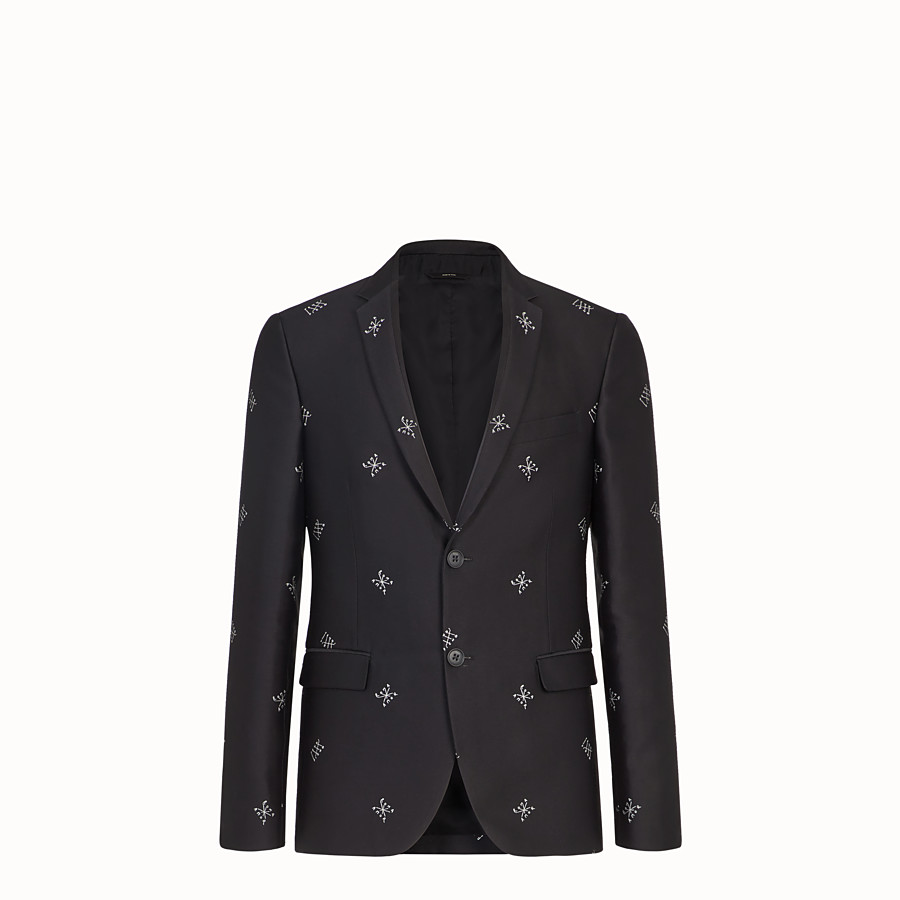 FENDI JACKET - Black silk blazer - view 1 detail