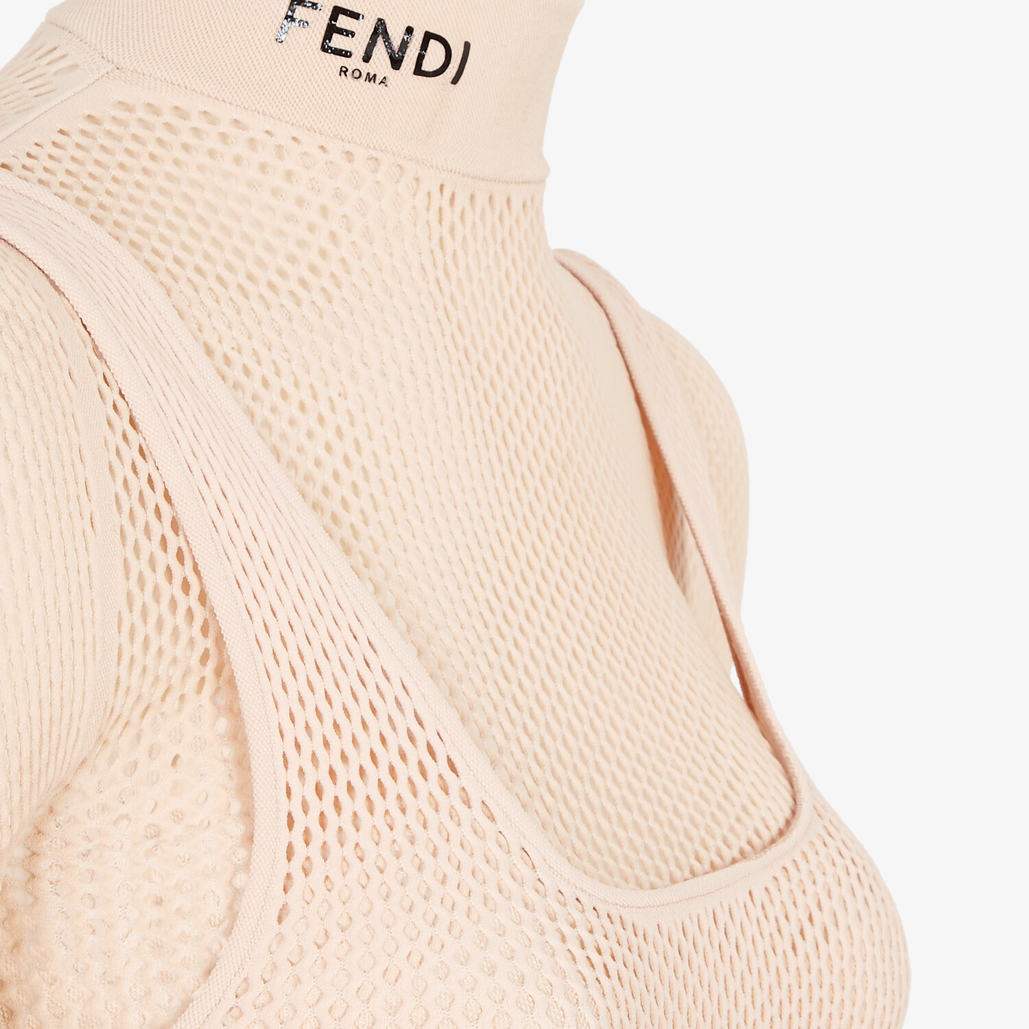 FENDI BODYSUIT - Pink mesh body - view 3 detail