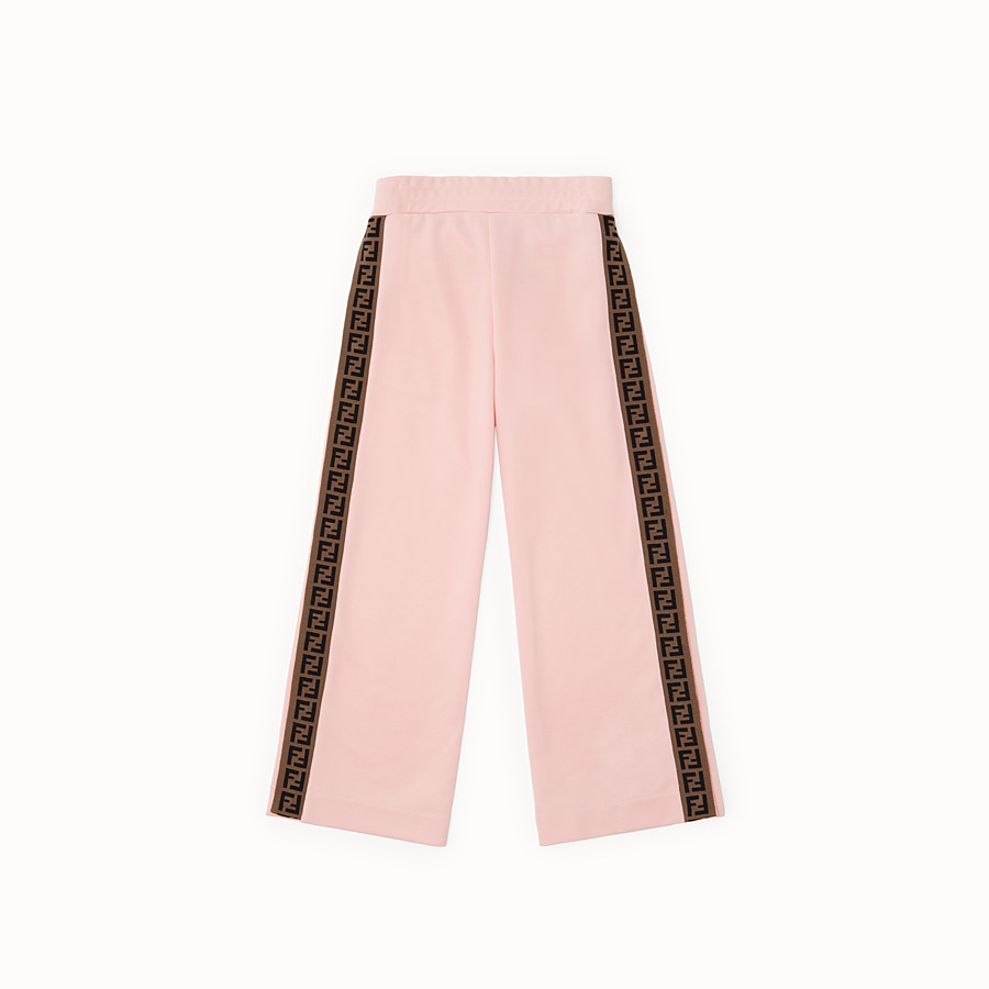 FENDI PANTS - Pink tech fleece trousers - view 1 detail