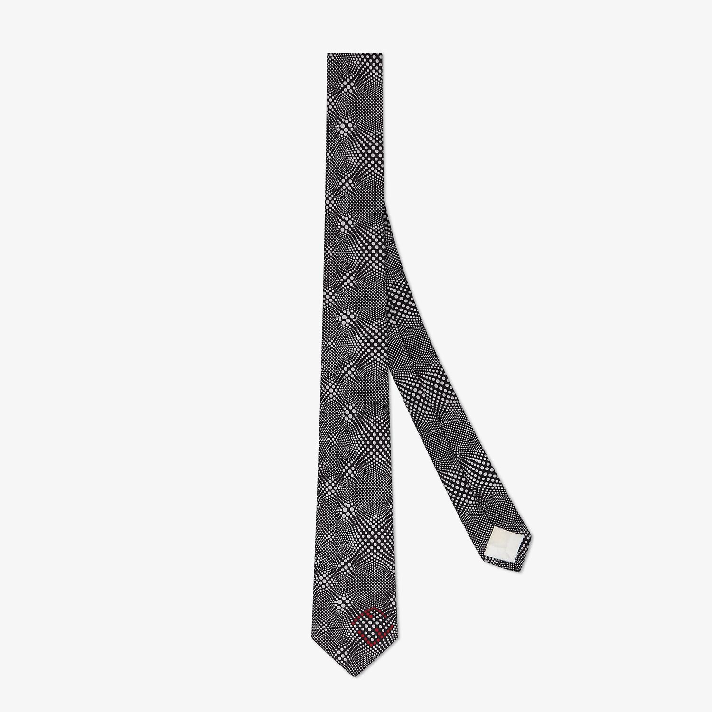 FENDI 領帶 - 黑色真絲領帶 - view 1 detail