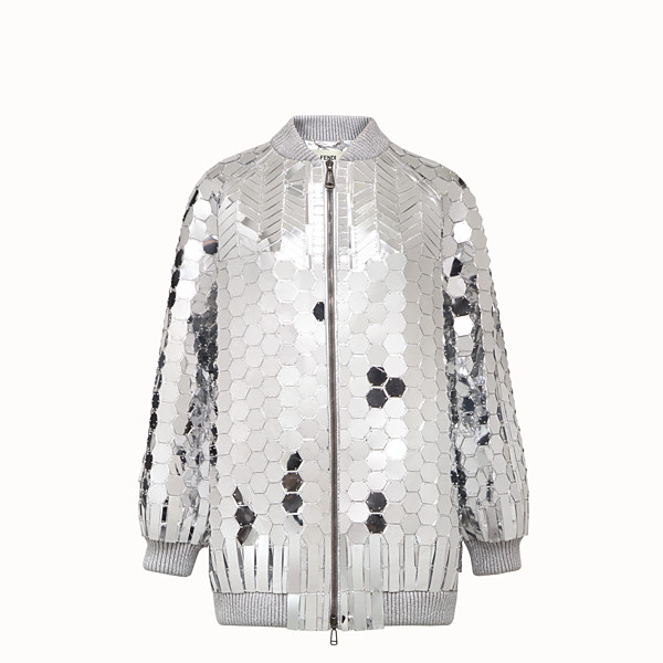 FENDI JACKET - Fendi Prints On jacket with silver-colored patches - view 1 small thumbnail