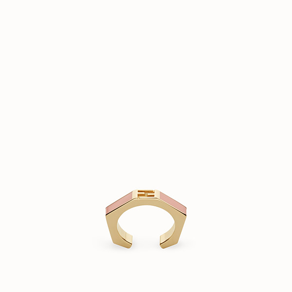 FENDI BAGUETTE RING - Polished pink Baguette ring - view 1 small thumbnail