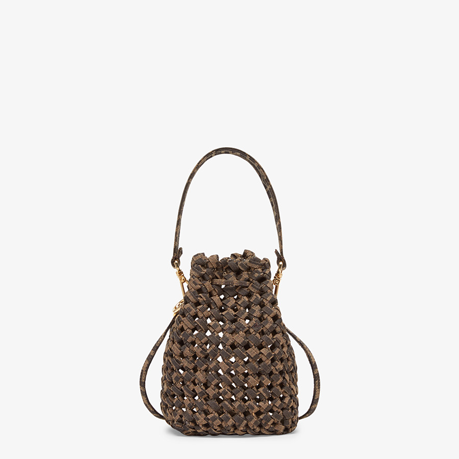 FENDI MON TRESOR - Jacquard fabric interlace mini-bag - view 3 detail