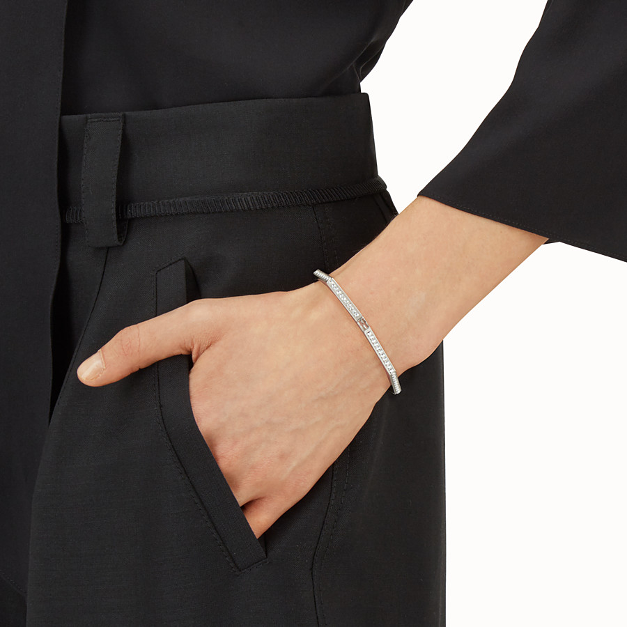 FENDI BAGUETTE BRACELET - Baguette bangle with crystals - view 2 detail