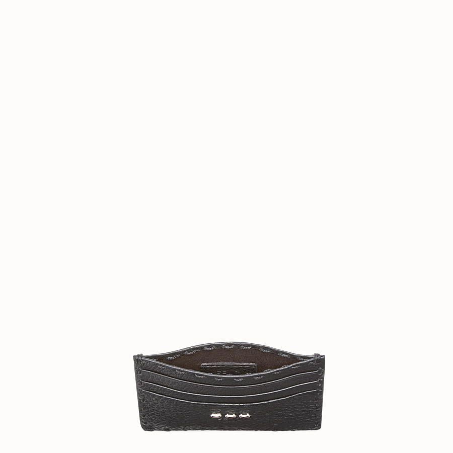 FENDI CARD HOLDER - Selleria 6-slot card holder in black - view 3 detail